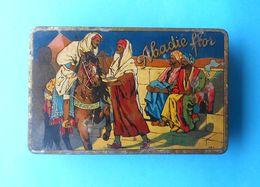 ABADIE FLOR - Beautifull Vintage Tobacco Tin Box ... Litho * LARGE SIZE * Tabak Cigarette Cigarettes Zigaretten - Cajas Para Tabaco (vacios)