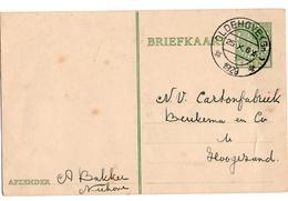Oldenhove ( Gn) Kortebalk - 1929 - Marcophilie