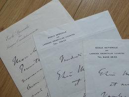 Paul BOYER (1864-1949) Directeur ECOLE LANGUES ORIENTALES. Russe. SLAVISTE. 3 X AUTOGRAPHE - Autographs