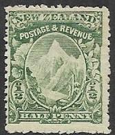 New Zealand   1902    Sc#107   1/2d  MLH  2016 Scott Value $8 - Nuovi