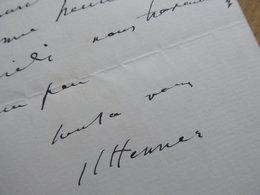 Jean Jacques HENNER Peintre - Autographes
