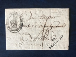 France, Griffe 73 BRAY.S.SNE Sur Lettre (LAC) An 6 - (B3117) - 1801-1848: Précurseurs XIX