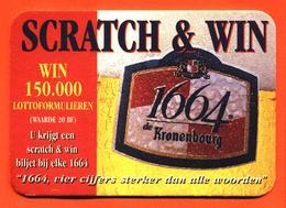 Sous Bock Coaster Bière Kronembourg Scratch Et Win Gagnez 150000 Lotto Brasserie En Alsace France - Bierdeckel