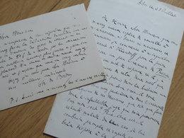 Charles De BORDEU (1857-1926) Ecrivain & Poète. Ami Francis JAMMES. Maire ABOS. BEARN. 2 X Autographe - Autographs