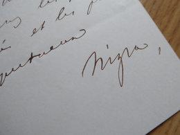 Constantin NIGRA (1827-1907)  Ambassadeur ITALIE à Paris, Londres, Saint Petersbourg ... SARDAIGNE. AUTOGRAPHE - Autografi