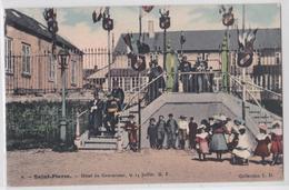 Saint-Pierre-et-Miquelon - Hôtel Du Gouverneur Le 14 Juillet - Cpa Colorisée Collection L.D. - Saint-Pierre-et-Miquelon