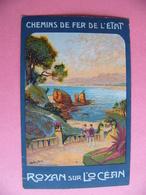 Rare ROYAN Véritable Carte Des Chemins De Fer De L'état Cachet Service Commercial Et Jeux Olympiques Paris 1924 - Royan
