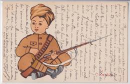 Child Indian Soldier WW1 Soldat Indien Illustrateur Enfant Inde Grande Guerre - India