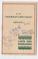 (paquebots) CGT  Liste Des Passagers Saint Nazaire-Cayenne 1931 Paquebot PEROU (PPP21766) - Documentos Antiguos