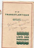 (paquebots) CGT  Liste Des Passagers Saint Nazaire-Cayenne 1931 Paquebot PEROU (PPP21767) - Documentos Antiguos