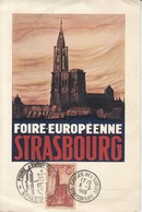 CP Affr Y&T 443 Obl FOIRE EUROPEENNE  STRASBOURG Du 6 SEPT 1949 + CONSEIL DE L'EUROPE Du 6.9.1949 - Poststempel (Briefe)