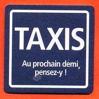 Sous Bock Coaster Bière Kronembourg Priorité à La Raison Taxis Brasserie En Alsace - Prévention Routière - Bierdeckel