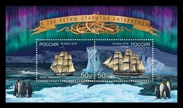 Russia 2019 Mih. 2716/17 (Bl.278) Discovery Of Antarctica. Ships Vostok And Mirny MNH ** - Unused Stamps