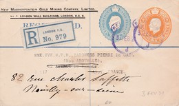 Entier Recommandé Ob 3 FE 21 Entier Pour Neuilly Sur Seine - Stamped Stationery, Airletters & Aerogrammes