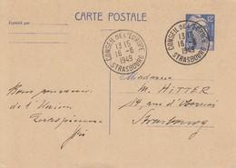 EP Y&T 812-CP1 Obl CONSEIL DE L'EUROPE STRASBOURG Du 6.8.1949 Adressée à Strasbourg - Alsazia Lorena