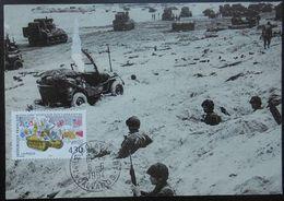 L031 Cachet Temporaire Le Molay Littry 14 Calvados Débarquement 6 Juin 1994 - Marcophilie (Lettres)