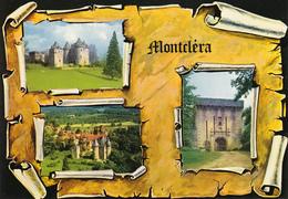 46 MONTCLERA - 3 VUES SUR PARCHEMIN - BLASON - France