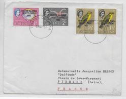 TRISTAN DA CUNHA - 1964 - TIMBRES De ST HELENA SURCHARGES Sur ENVELOPPE => FIRMINY - Tristan Da Cunha