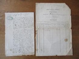 AUBUSSON LE 5 OCTOBRE 1868 Me AUSSONNE HUISSIER DECLARE A LA COMPAGNIE CONCESSIONNAIRE DU CHEMIN DE FER D'ORLEANS QUE M. - Manuskripte
