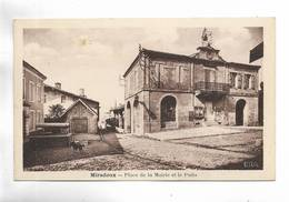32 - MIRADOUX - Place De La Mairie Et Le Puits - Autres Communes
