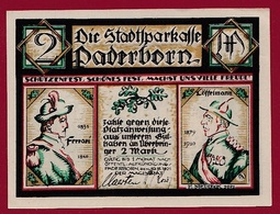 Allemagne 1 Notgeld 2 Mark Stadt Paderborn Dans L 'état Lot N °5794 - Verzamelingen