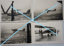 Photox4 ABL DE HAVILLAND  TIGER MOTH  T1 EVS Bierset Circa 1950 Force Aérienne Luchtmacht Vliegtuig Avion Plane - Aviation