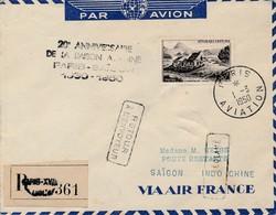 J62 - Marcophilie - Enveloppe Par Avion - Paris Vers Saigon - Indochine - 1950 - Retour à L'envoyeur - Non Réclamé - Air Post