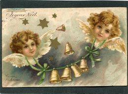 CPA - Illustration - Anges (Relief)  (dos Non Divisé) - Angeli
