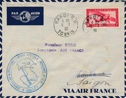 J62 - Marcophilie - Enveloppe Par Avion - Hanoï Vers Saigon - Indochine - 1939 - Air Post