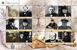 Moldova 2020, England Politician, Writer Winston Churchill, Sheetlet Of 12v - Ucraina