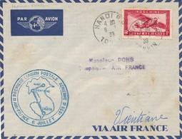 J62 - Marcophilie - Enveloppe Par Avion - Hanoï Vers Vientiane - Indochine Vers Laos - 1939 - Air Post