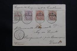 MAROC - Enveloppe Des Troupes De Débarquement De Casablanca Pour La France En 1908, Affranchissement Blancs  - L 54431 - Covers & Documents