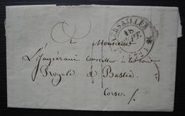 Versailles 1835 Lettre Pour Bastia (Corse) Au Conseiller à La Cour Royale - 1801-1848: Vorläufer XIX