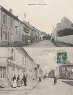 2 CPA:PENCHARD (77) MAGASIN RUE DE MEAUX,CAFÉ BIÈRES V.CLINET ROUTE DE MONTBYON.ÉCRITES - Francia
