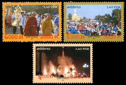 323 - Laos 2007  YT 1667-69 ; Mi# 2044-46 **  MNH  That Luang Festival - Laos