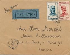J62 - Marcophilie - Enveloppe Par Avion - Madagascar Vers France - Air Post