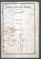 Carnet De Garde Nationale Mobile, Incorportion Le 1er Fevrier 1868 - Autres