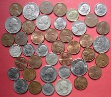Etats Unis (USA) Lot De 43 Monnaies, Cents Dimes Quarter, Dont Dime 46 Et Quarter 1935 En Argent, Voir Photos - Vereinigte Staaten