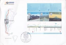 TURISMO, RUTA 40 CHUBUT RIO NEGRO NEUQUEN. ARGENTINA YEAR 2007, BUENOS AIRES FDC WITH BLOCK -LILHU - Vacaciones & Turismo