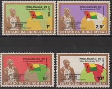 Guiné-Bissau Guinea Guinée Bissau 1973 1974 Mi. 345-348 Republic History Flags Politics Map Karte Flagge Fahne Drapeau - Guinée-Bissau