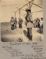 Photo Militaire Maroc Officier à Bou Denib Curie Pannescorse Pollet Dinaux Chatignières Hauteville ... - Guerra, Militari
