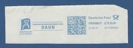 Deutsche Post FRANKIT - 0,70 EUR 2016 - 2D13000B2C - DAUN, Verbandsgemeindeverwaltung - GESUNDLAND VULKANEIFEL - Marcophilie - EMA (Empreintes Machines)