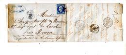 Lettre Cachet Losange ?  + La Rochelle  Paris Au Havre Sur Napoleon - Storia Postale