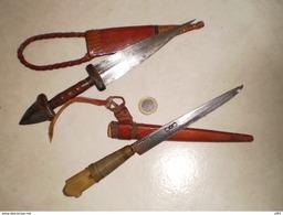 LOT COUTEAUX AFRICAIN - Knives/Swords