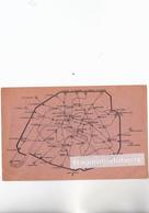 CPA - 75 PARIS - PLAN Du METROPOLITAIN En 1937 Sur Carte Postale - RARE - Papier Fin - Métro Parisien, Gares