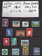 ONU--NATIONS-UNIES--bureau De Genève--années 1969-70 Complètes-NEUFS ** N°1 à 14 --cote 30€.......à Saisir - UNO