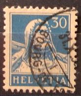 Schweiz Suisse 1932: Buste De Tell  Zu 160z Mi 169x+z Yv 205 Mit O GENÈVE 31.X.3? BOURG-DE-FOUR (Zumstein CHF 4.50) - Gebraucht
