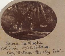 Photo Militaire Maroc Source Du Meski Vallée Du Ziz Officier Curie ... - Guerre, Militaire