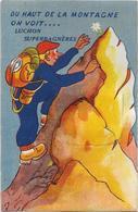 D 31  LUCHON  CARTE à SYSTEME    Du Haut De La Montagne On Voit Luchon Superbagneres - Cartoline Con Meccanismi