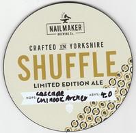 NAILMAKER BREWING CO   (BARNSLEY, ENGLAND) - SHUFFLE LIMITED EDITION ALE - PUMP CLIP FRONT - Letreros